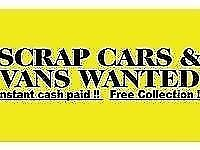 Scrap cars wanted cash paid manchester scrap yard