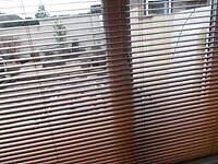 6 x wooden effect venetian blinds