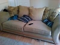 3 seater sofa and an armchair