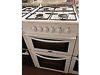 WHITE 50CM BELLING GAS COOKER