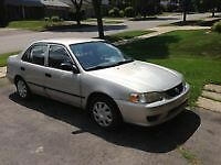 2001 toyota corolla as is runs drives stops parts or repair