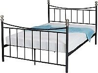 Ex display Excellent king size black metal bed frame. Delivery available.