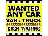 Vans Wanted and Cars - Top Cash Paid 07676 552211