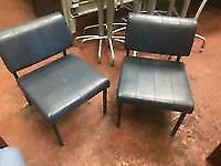 Leathrette Navy Retro Reception Chairs ****REDUCED***