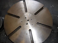 """lathe face plate 12"""" dia inch and one eight 12 tpi threads fits myford lathes"""