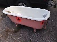 5 ft claw foot bathtub.