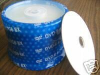 100 PCS PRODISC DVD-R WHITE INKJET HUB PRINTABLE 8X