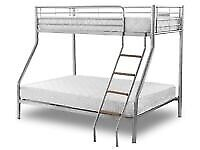 🎁🎉🔥 trio metal bunk bed frame with mattress choice !!!