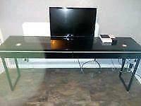 Ikea besta burs high gloss black desk / dressing table / tv unit