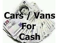 Cars vans mot failures non runners wanted same day collection