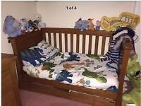Mammas and papas sleigh cot bed