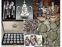 Wanted for cash Gold silver medals Coins watches antiques