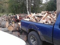 CHEAP FIREWOOD DELIVERY $100 HEAPING TOYOTA LOAD SPLIT ASPEN