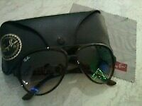 """LADIES """"RAY-BAN"""" AVIATOR 1937 SUNGLASSES / POLARIZED / COST £170.00 / UNWANTED XMAS GIFT / PERFECT"""