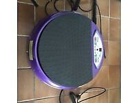Round Purple Vibraplate with resistance bands