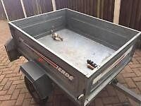 ERDE 55 KG TIPPING TRAILER WIOTH NEW LIGHTS IN BOX