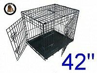 Dog Crate Heavy Duty 42 inches