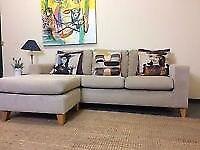 Next Beige Corner Sofa - Adjustable Left or Right