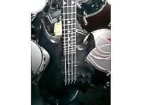 B C Rich NJ NeckThru Series Warlock Bass Guitar