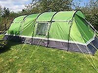 Hi Gear Tourer 6 person tent with Foot Print & Carpet