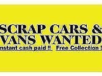 Scrap cars wanted now