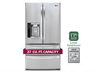 LG LMXS27626S 36in 4-French Door Fridge: life's good never b4