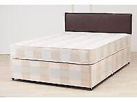 Double bed. Has a mattress, base and a head board
