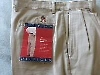 TOMMY HILFIGER - Cotton Twill Traditional Pants