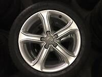 Genuine original Audi alloys wheels with almost new tyres