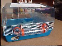 Hamster plastic cage box wtih extras
