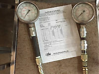 TWO PRESSURE GUAGES FOR $25.00 OR BEST OFFER