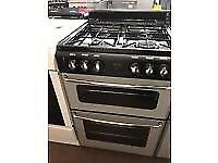 SILVER/BLACK 60CM STOVES GAS COOKER