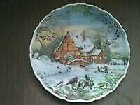 Royal Albert Christmas plate Dream Cottages fab 1993