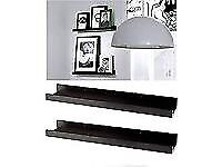 NEW Ikea RIBBA Modern Floating Ledge for Photos/Pictures and Frames, Black, 115 cm.