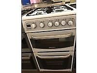 WHITE 50CM CANNON GAS COOKER