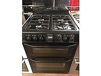 BLACK 60CM STOVES GAS COOKER