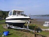 18ft day boat Bella 572C Includes Trailer Engine Chartplotter Fishfinder