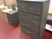 New Sonoma LIGHT OR DARK Oak effect 2 over 3 drawer chest of drawers