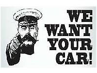 Cars vans and 4x4s wanted