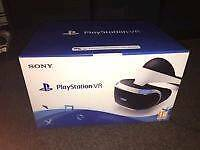 PlayStation VR headset boxed
