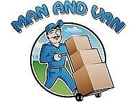 MAN AND LUTON VAN REMOVAL SERVICE MOVING HIRE WITH RUBBISH DUMP SKIP HOUSE FLAT PIANO MOVERS DRIVER