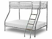 🟦✔️Your pocket-friendly store 🟦✔️kids bed/Trio Metal Bunk Bed Frame-optional mattress
