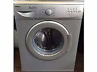 BEKO 6kg Washing Machine (WM6133 A+A Class) Silver/Frosted Steel