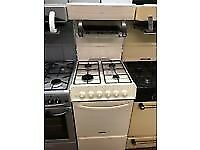 CREAM 50CM EYE LEVEL GAS COOKER