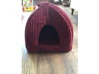 Unused/As New *Purple/Plum Coloured Cord Pet Igloo/Bed/Hideaway from Pets at Home