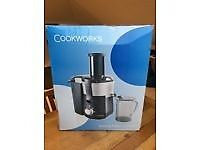 New in box with packaging unused wholefruit juicer reduced to 15 pounfds