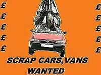 Scrap vehicles wanted dead or alive