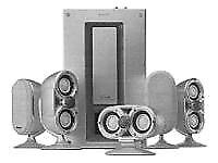 Sony pascal 5.1 surround system speakers with active sub