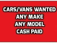 We Buy unwanted cars and vans for cash running or non running lay ups mot failures etc