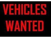 Vehicles wanted from £100 to £2000 paid quick collection